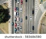 top view of radial leste avenue ... | Shutterstock . vector #583686580