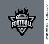 american football logo design  | Shutterstock .eps vector #583686670