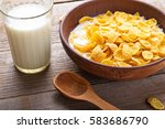 Cornflakes Cereal And Milk In ...