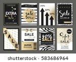 big set of social media sale...   Shutterstock .eps vector #583686964