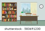 colorful library vector set... | Shutterstock .eps vector #583691230