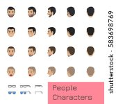 People Characters Set Of Turne...
