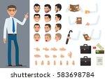 businessman character generator ... | Shutterstock .eps vector #583698784