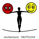 coping with bipolar disorder.... | Shutterstock . vector #583701244