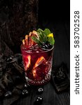 cocktail red  decorated with... | Shutterstock . vector #583702528