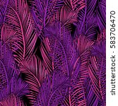 seamless tropical pattern of... | Shutterstock .eps vector #583706470