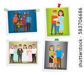 family photos with special day... | Shutterstock .eps vector #583706686