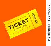 ticket icon vector illustration ... | Shutterstock .eps vector #583707970