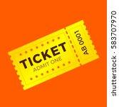 ticket icon vector illustration ... | Shutterstock .eps vector #583707970