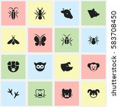 set of 16 editable nature icons....