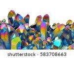 amazing colorful quartz rainbow ... | Shutterstock . vector #583708663