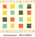 vector collection of retro... | Shutterstock .eps vector #583710898