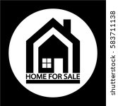home for sale icon | Shutterstock .eps vector #583711138