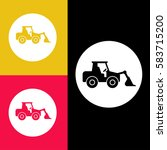 tractor loader excavator icon...   Shutterstock .eps vector #583715200