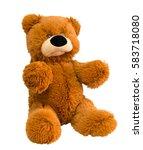 A Toy. Teddy Bear Sitting On A...