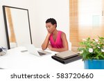 portrait of professional... | Shutterstock . vector #583720660