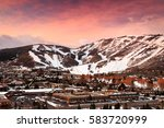 winter sunrise above park city... | Shutterstock . vector #583720999