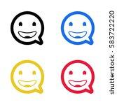 smile emoji emoticon dialogue...   Shutterstock .eps vector #583722220