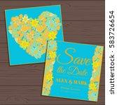 wedding invitation card suite... | Shutterstock .eps vector #583726654