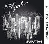 Hand Drawn New York Architecture