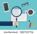 concept of new projects ... | Shutterstock .eps vector #583732756