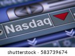 Small photo of The National Association of Securities Dealers Automated Quotation is an American stock exchange. Down.