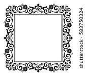 decorative line art frames for... | Shutterstock .eps vector #583750324