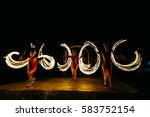 fire show and a lot of the... | Shutterstock . vector #583752154