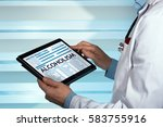doctor consulting medical... | Shutterstock . vector #583755916