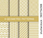 set of vector geometric... | Shutterstock .eps vector #583756588