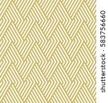 geometric gold pattern. vector... | Shutterstock .eps vector #583756660