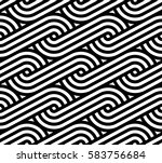 geometric pattern. vector... | Shutterstock .eps vector #583756684