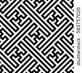 geometric pattern. vector... | Shutterstock .eps vector #583757020