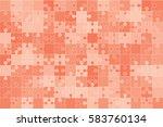 112 Red Puzzles Pieces Arrange...