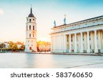 vilnius  lithuania. the view of ... | Shutterstock . vector #583760650