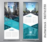 Business Roll Up. Standee Design. Banner Template. Presentation and Brochure. Vector illustration | Shutterstock vector #583761550