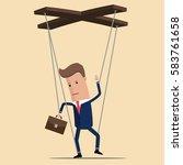 businessman or manager... | Shutterstock .eps vector #583761658