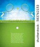 vector illustration of tennis... | Shutterstock .eps vector #583762153