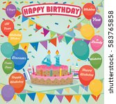 41th birthday cake and...   Shutterstock .eps vector #583765858