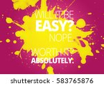 fitness motivation quotes | Shutterstock . vector #583765876