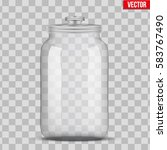 big glass jars for bulk and... | Shutterstock .eps vector #583767490