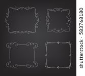 set of frames drawn with chalk | Shutterstock .eps vector #583768180