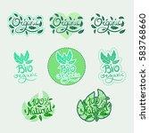 vegan hand written calligraphy... | Shutterstock .eps vector #583768660