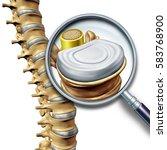 lumbar spine anatomy segment... | Shutterstock . vector #583768900