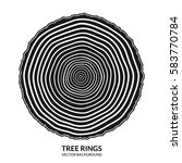 tree rings and saw cut tree... | Shutterstock .eps vector #583770784