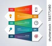 infographic banner. paper... | Shutterstock .eps vector #583771480