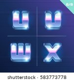 vector 80's style metallic... | Shutterstock .eps vector #583773778