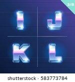 vector 80's style metallic... | Shutterstock .eps vector #583773784