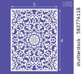 die cut ornamental panel with... | Shutterstock .eps vector #583776118