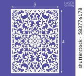 die cut ornamental panel with... | Shutterstock .eps vector #583776178